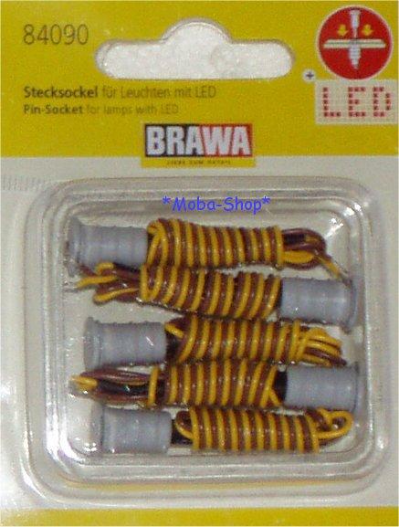 Brawa-84090-H0-Nachruestpackung-Stecksockel-5-Stueck-LED-63990